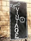 Large Handpainted Shop Open Sign, Vintage Goods and Wares Black and White Indoor or Outdoor Store Signage