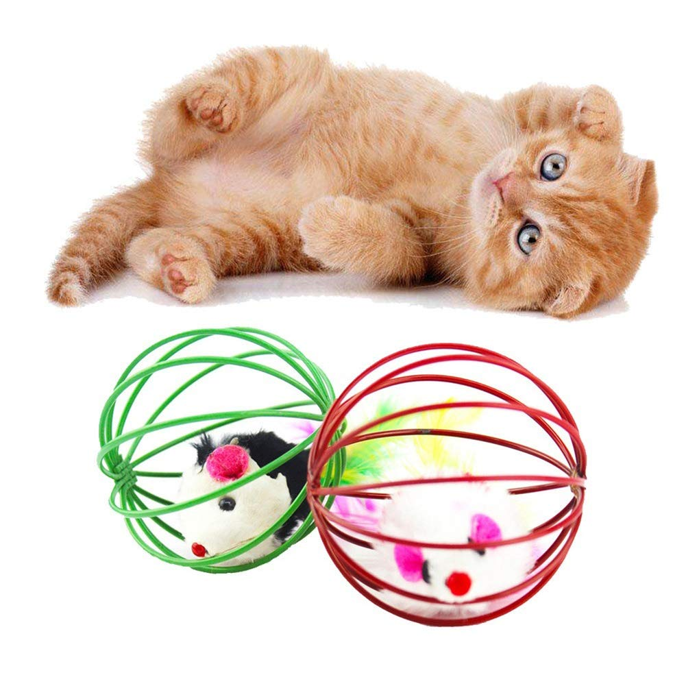 Finance Plan Pet Cat Interactive Toy Simulated Mouse Caged Rat Scratch Ball Kitten Gifts
