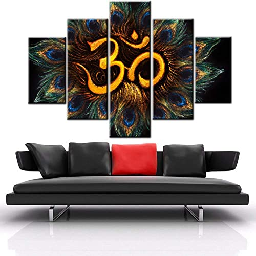 Black and White Pictures Ancient Hindu Religion Paintings Brahmanism Om Symbol Wall Art