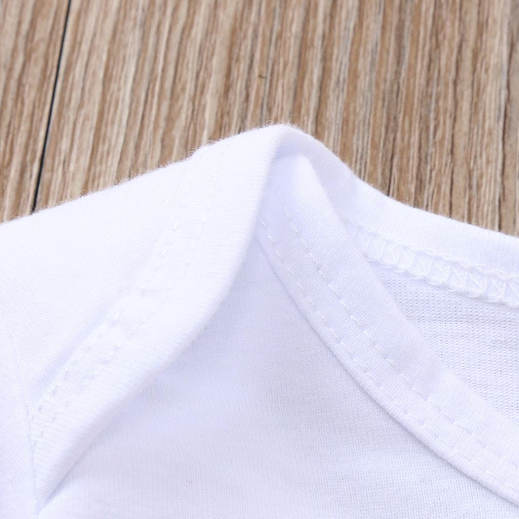 WARMSHOP 3 PC Newborn Clothing Set 2018 Latest A Country Boy Girl Cartoon Letter Print Romper Tops+Pants+Hat Playwear Set