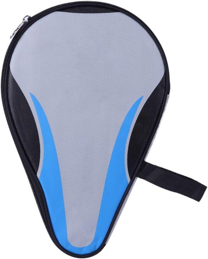 Leezo - Maletín de Tenis de Mesa Oxford, Impermeable, con Cremallera, Ideal para Guardar Bates de Tenis de Mesa