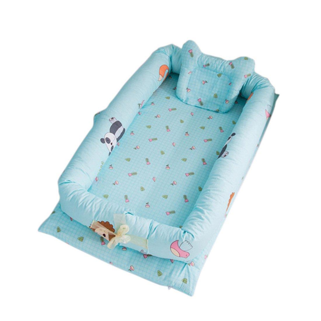 YUENA CARE un Juego de Cama Nido de Bebé Reductor Protector de Cuna Cama Cojín de Nido + Protector de Cuna + Almohada de Bebé #1