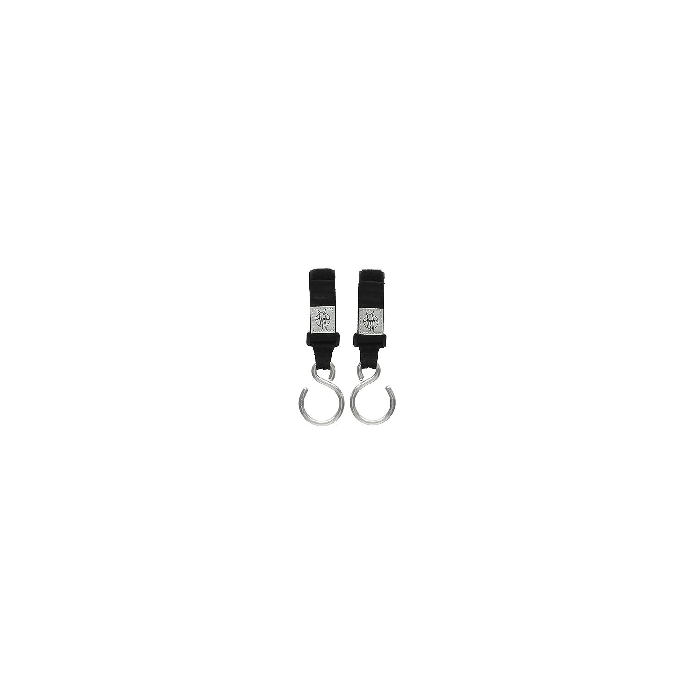Lassig Casual Stroller Hooks Metal, 2-Pack, Black LHO02