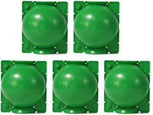 Plant Rooting Box Root Grafting Ball - Reusable Plant Rooting Device, Plant Rooter Pot, Garden Round Box Grafting Botany Root Controller for Roses, Trees, Fruit Bushes - 5 Pcs Green