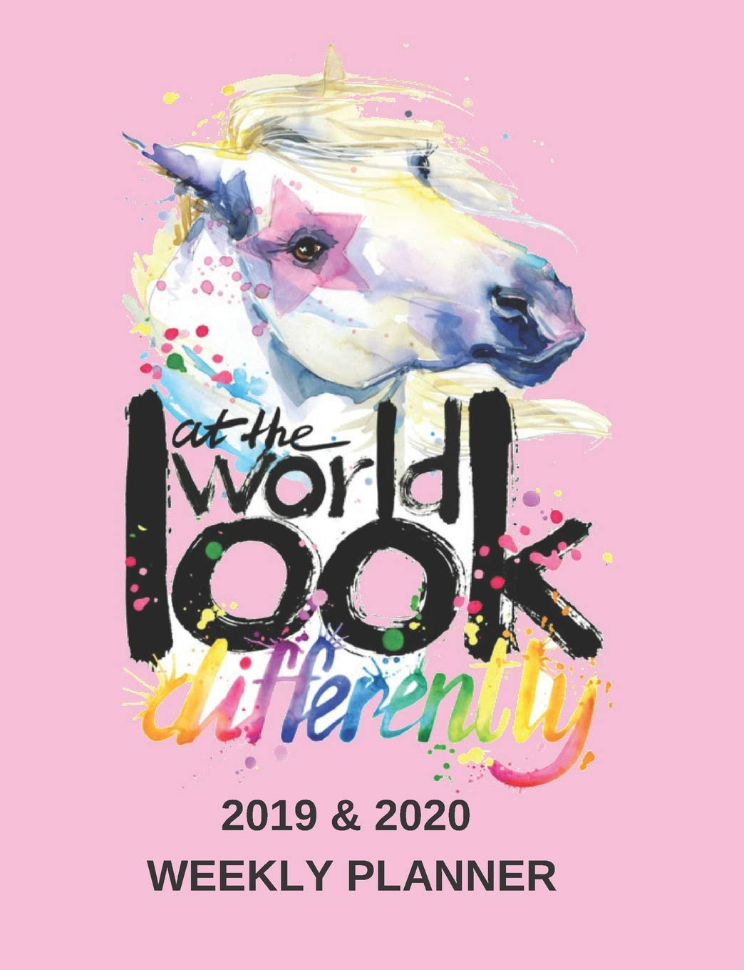 2019 & 2020 Weekly Planner For Girls | Pink Unicorn Cover ...