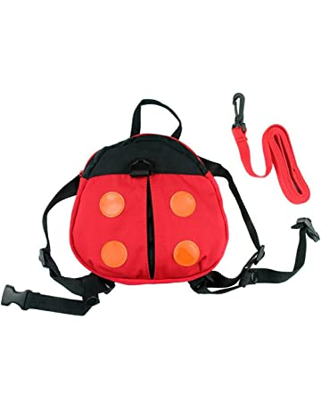 Bluelans® Cute Kids Keeper Toddler Walking Safety Harness Backpack Security Strap  Rein Belt Red Ladybug fc2b6103e0a0f