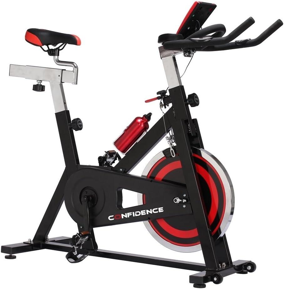 Confianza S3000 Indoor bicicleta w/18 kg volante y sensores de pulso: Amazon.es: Deportes y aire libre