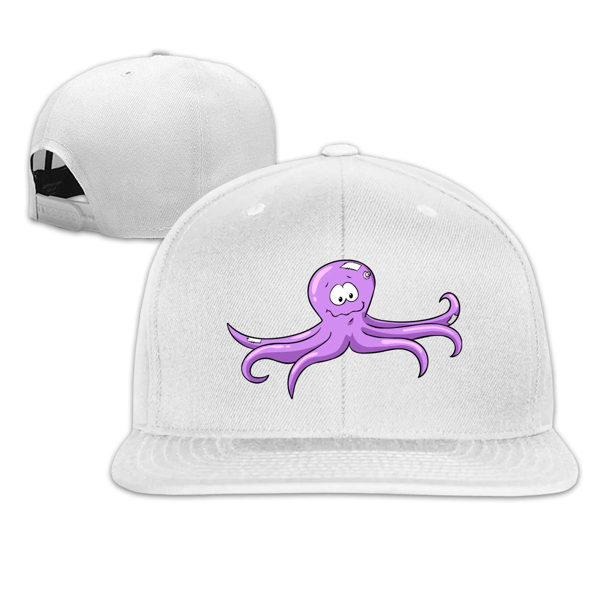 Xieadery Octopus Flat Brim Baseball Cap Adjustable Snapback Trucker Hat Caps Hip Hop Hat