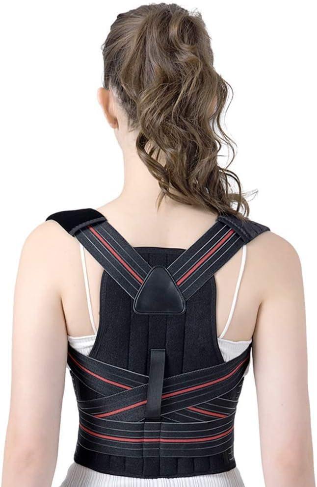 Qfeng Rfeng - Ortesis de Espalda para niños y Adultos con corrección de Joroba, Espalda Abierta y ortopédica, Espalda Abierta, X-Large