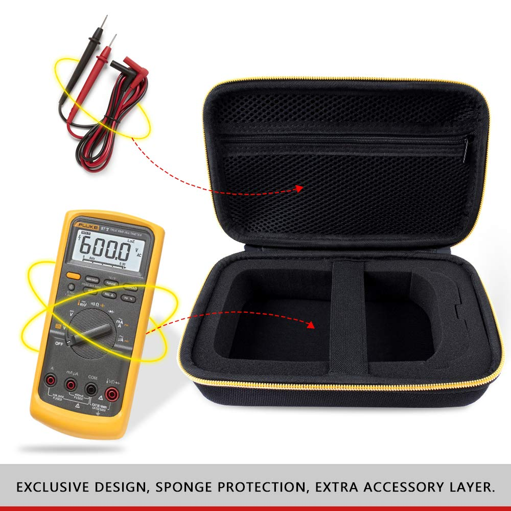 Tasche f/ür Multimeter Digital Fluke 117//116//115//114//113//103//17B+//177//87V//Multimeter