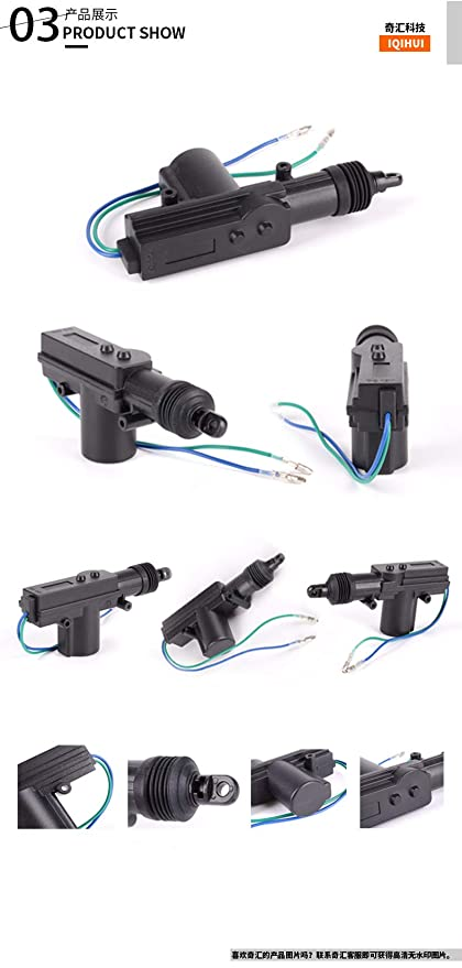 HERCHR Car Power Door Lock Actuator for DC 24V Central Locking System 2 Wire /& 5 Wire 12V