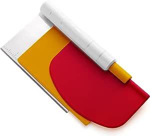 Chef'n 85119 Pastrio Scraper Set, Red/White/Yellow