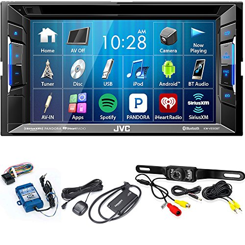jvc-kw-v230bt-bt-dvd-cd-usb-receiver-with-62-with-sirius-xm-tuner-back-up-camera-and-steering-wheel-