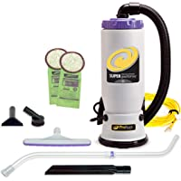 ProTeam Backpack Vacuums, Super QuarterVac Commercial Backpack Vacuum Cleaner with HEPA Media Filtration and Telescoping…