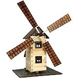 Walachia 8594036430150–Moulin à vent en bois kit de construction, modèle maquette Embout 1/LGB 1: 32