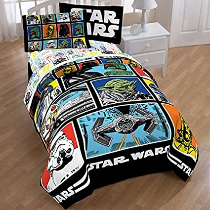 Amazoncom Star Wars Classic Comforter and Sheets Bedding Set Full