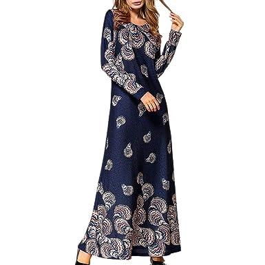 90281c07e3ce Muslim Women Islamic Dress, Lovewe Women's Ethnic Dress, Long Maxi Dress  Robe for Women