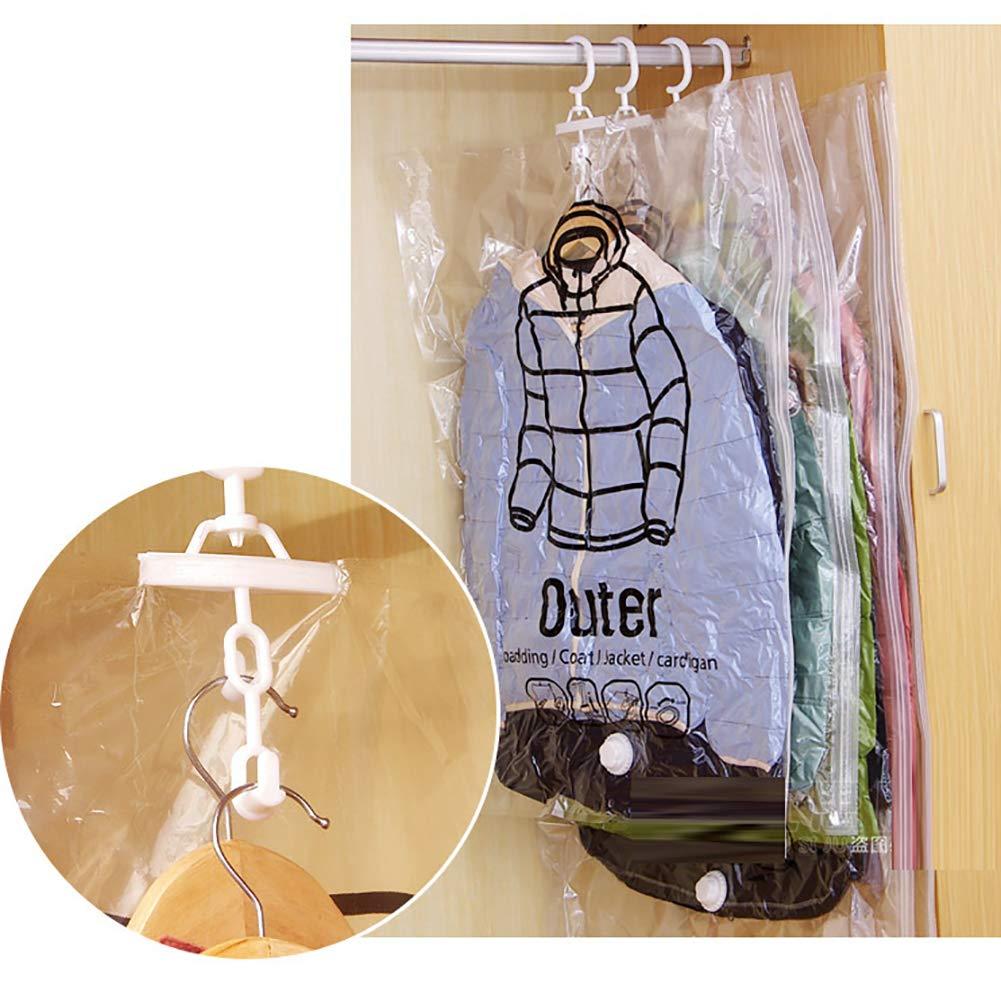 bolsas de compresi/ón para ahorro de espacio para viajes y almacenamiento Bolsas de almacenamiento al vac/ío para colgar organizador de armario bolsas transparentes