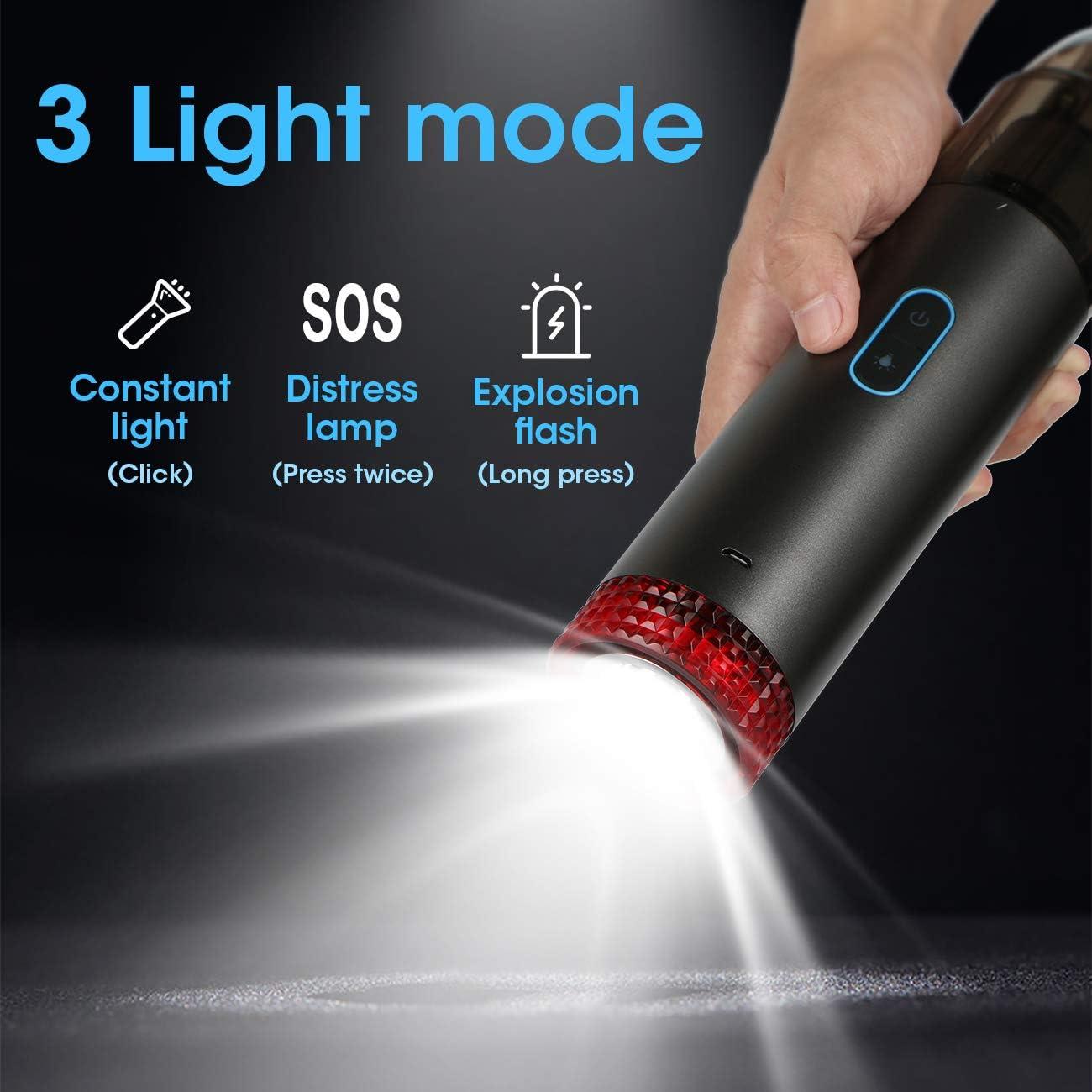 Sucastle Handstaubsauger,Akku Handstaubsauger tragbarer Mini-USB-Ladeger/ät f/ür Staubsauger mit Au/ßenbeleuchtung,Akkusauger Kabellos,Mini Staubsauger Autostaubsauger f/ür jede Ecke von Auto und Familie
