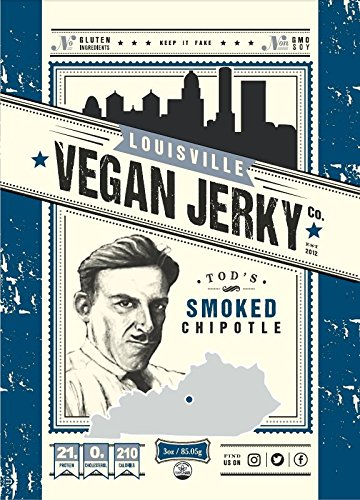 Louisville Vegan Jerky - Smoked Chipotle, 3 oz. Bag