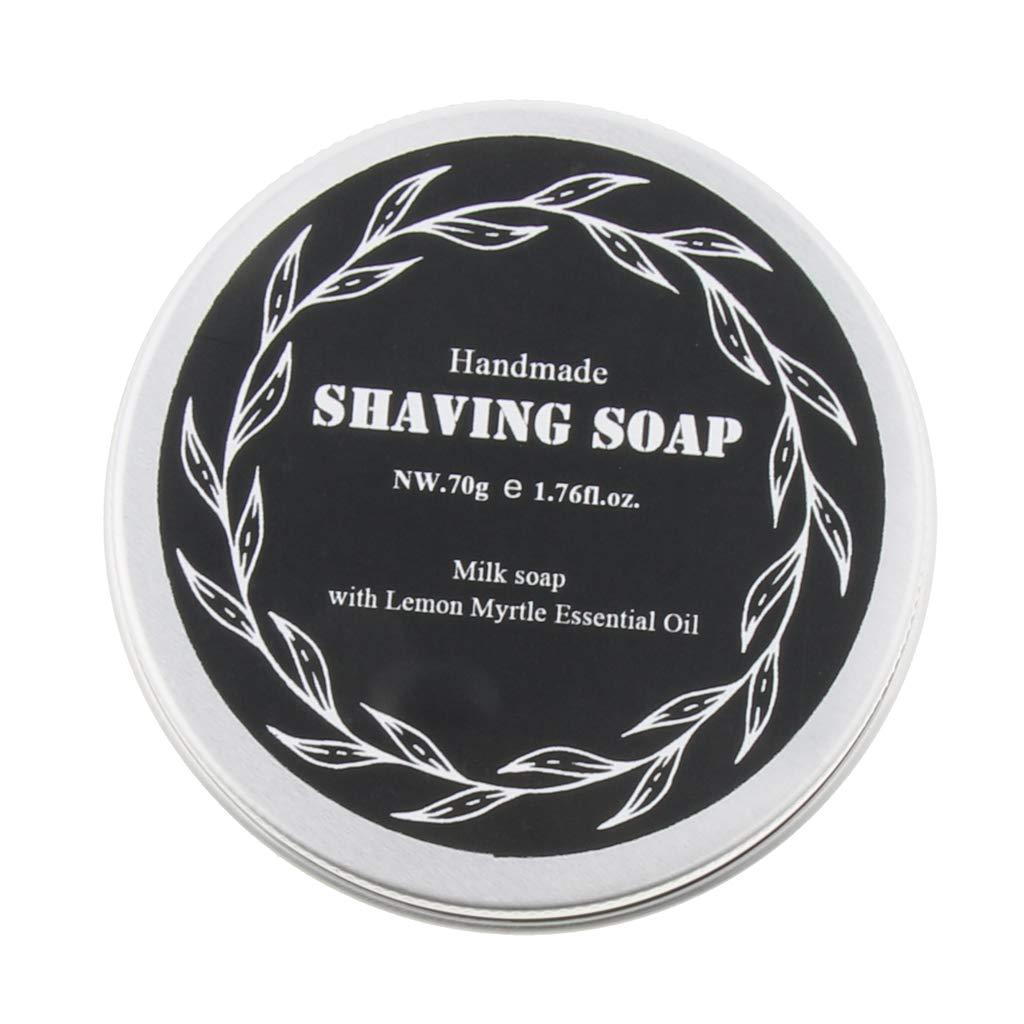 P PRETTYIA High Moisturizing Home Travel Men's Beard Moustache Shaving Cream Soap 70g