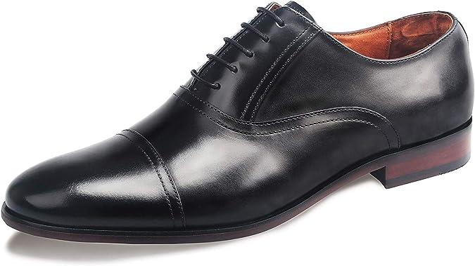 TALLA 40.5 EU. Desai Zapatos con Cordones de Cuero Hombre