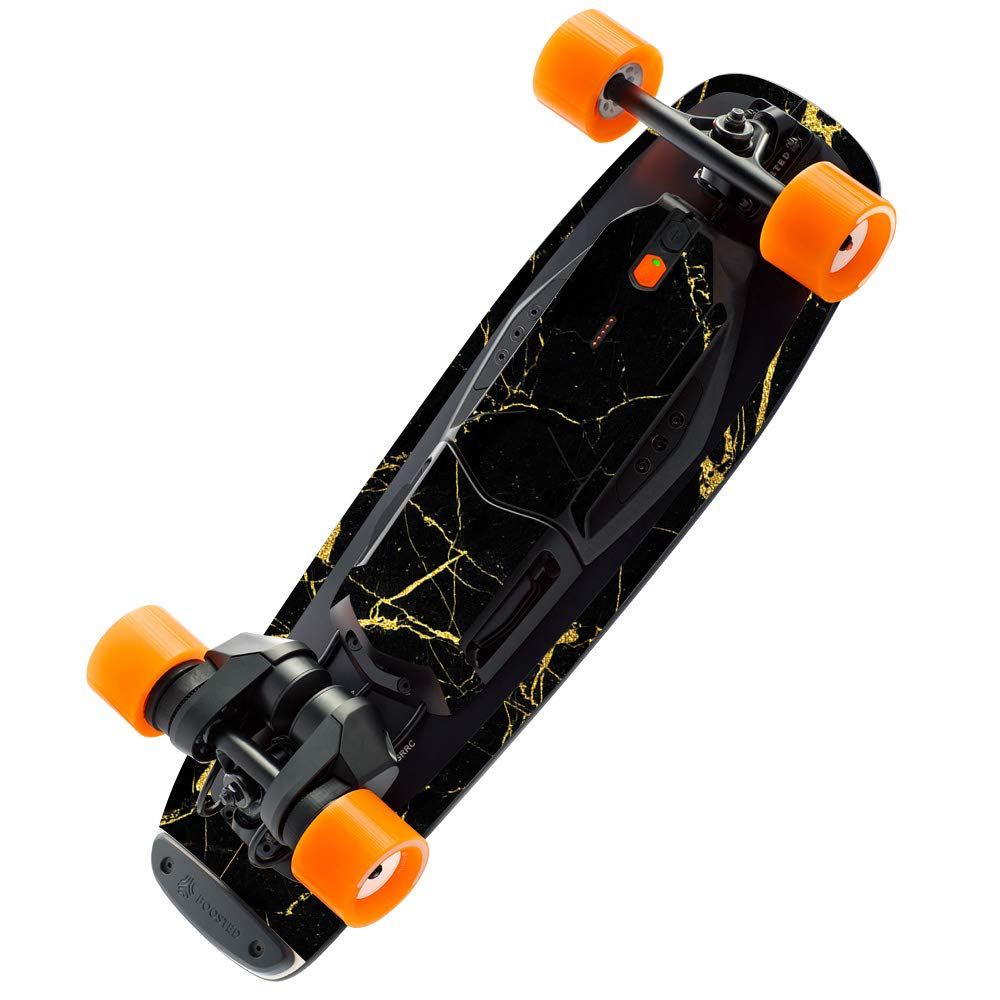 MightySkins Skin Compatible with Boosted Board Mini S - Black Gold Marble | Protective, Durable, and Unique Vinyl Decal wrap Cover | Easy to Apply, Remove, and Change Styles | Made in The USA