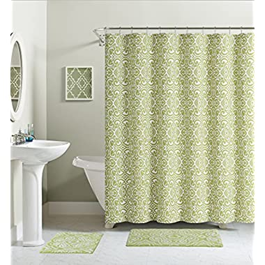 Ruthy's Textile 100% cotton shower curtain (Green)