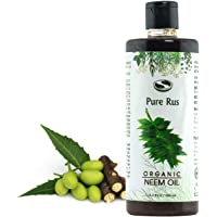 Pure Rus Cold Pressed Organic Neem Oil for Hair and Skin, 500ml