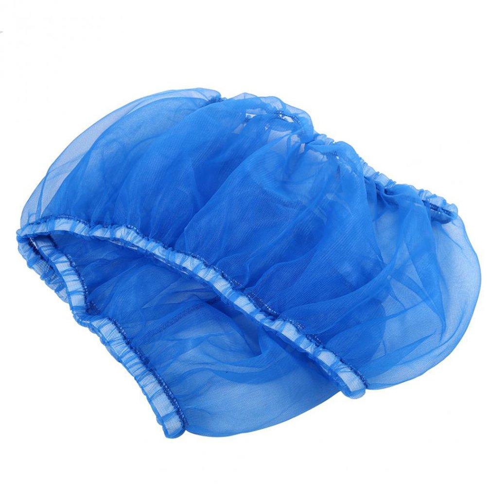 UEETEK Bird Cage Skirt Mesh Bird Seed Catcher Net Cage Cover Size M (Blue)