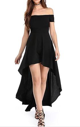 YaoDgFa Sexy Damen Kleider Abendkleid Cocktailkleid Partykleid Kleid  Ballkleid Knielang Festlich Kurzarm Off Schulter Lang Maxi fc4db4e342