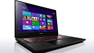 "Lenovo Y50 TOUCH Laptop - 59429430 - Core i7-4710HQ / 512GB SSD / 16GB RAM / 15.6"" FHD Multi-Touch 1920x1080 Display / NVidia GeForce 860M 4GB / Dual Band Wireless AC / Windows 8.1"