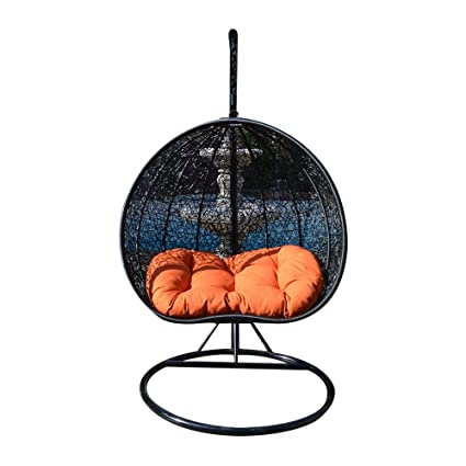 Amazon Com Egg Nest Shaped Wicker Rattan Swing Chair Hanging