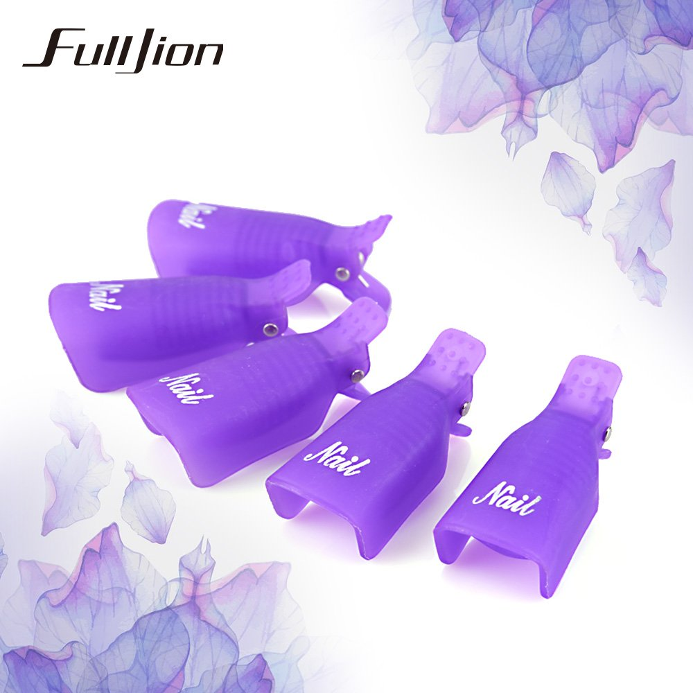 5pcs/set Nail Gel Polish Remover Clips Lacquer Tool Soak Off Wrap For Nail Makeup Tools Nail Cleaner Cap Remover Gel