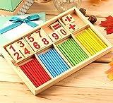 Stylrtop Montessori Mathematical Intelligence Stick Preschool Educational Toys