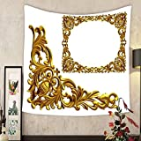 Evelyn C. Connor Custom?tapestry golden frame with baroque ornaments in gold mirror the element to complete the frame