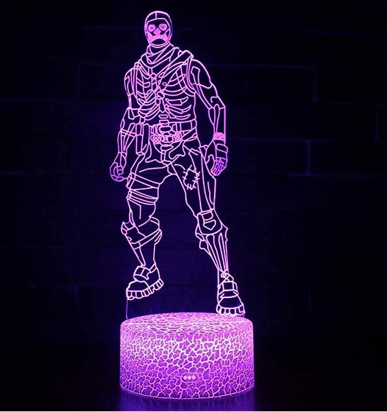 3D Lámpara de Escritorio Win-Y LED 7 del tacto del color de ...
