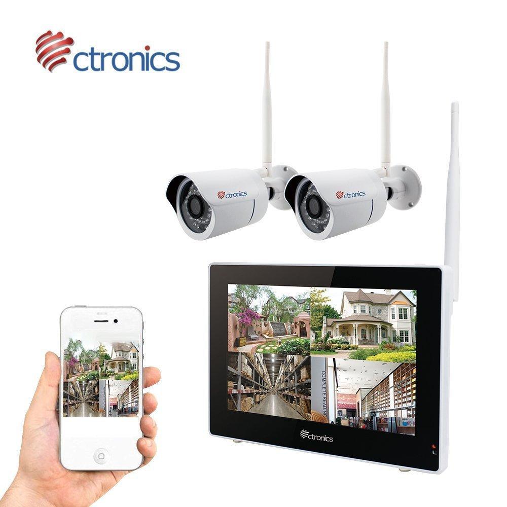 Touchscreen)Ctronics überwachungskamera Set 2.4G drahtloses NVR WiFi ...