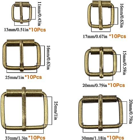30mm X 20mm Hebillas de rodillos de metal de níquel color paquete de 30 sólo £ 10