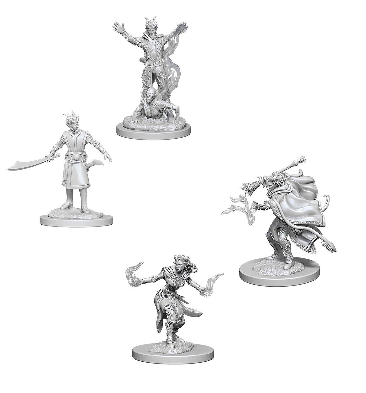 Tiefling Male Warlock /& Tiefling Female Warlock Wiz Kids Dungeons /& Dragons Nolzurs Marvelous Unpainted Miniatures Bundle