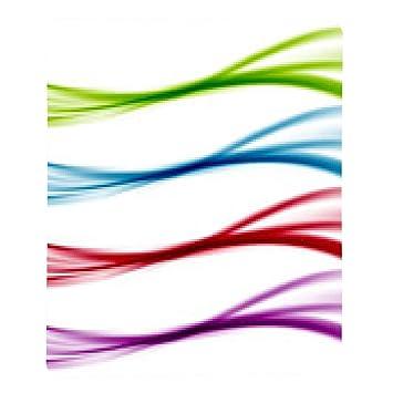 alfombrilla de ratón plantillas de la línea de colores brillantes ...