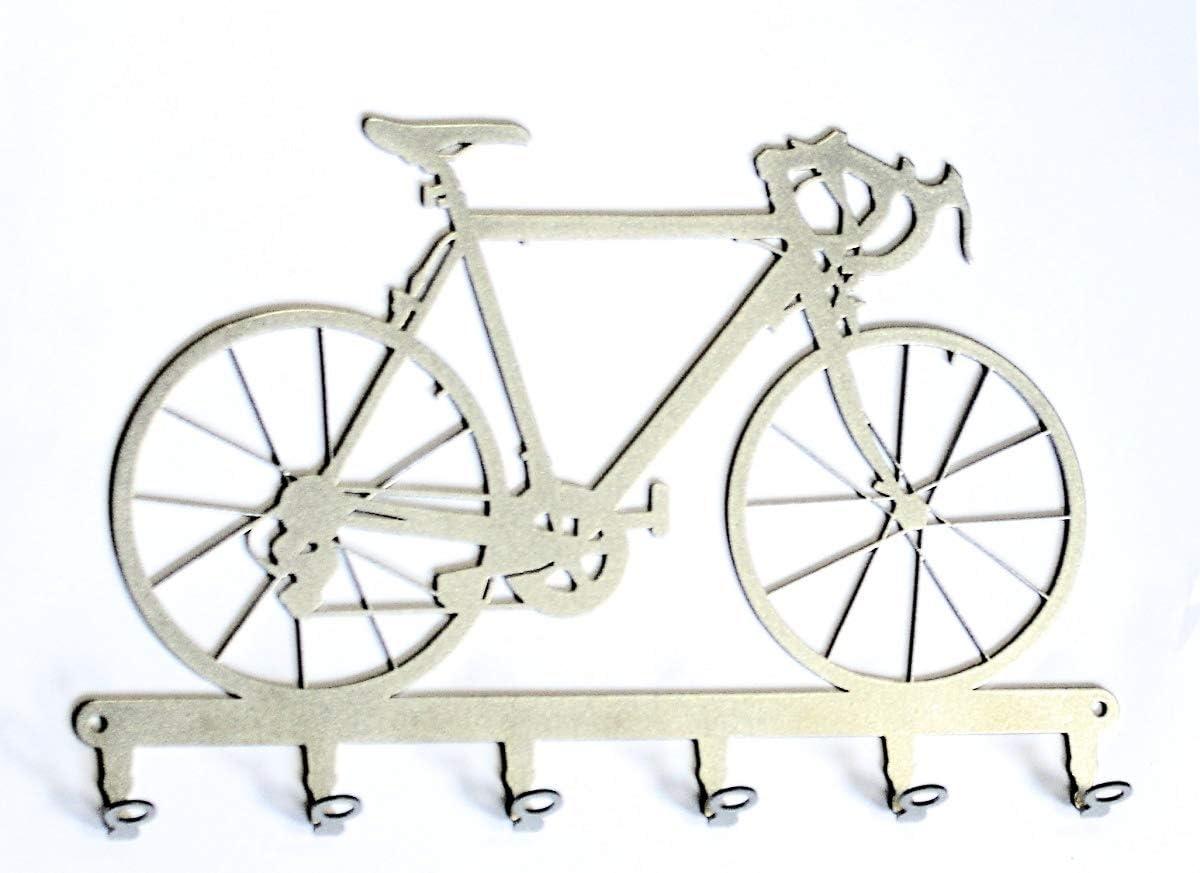 Tablero de Llaves - Bicicleta de Carreras - Ganchos para Llaves - Acero, Plata, 30 cm x 19 cm: Amazon.es: Hogar