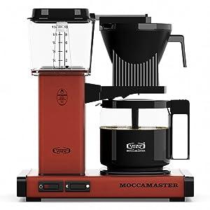 Technivorm Moccamaster 59463 KBG Coffee Brewer, 40 oz, Brick Red