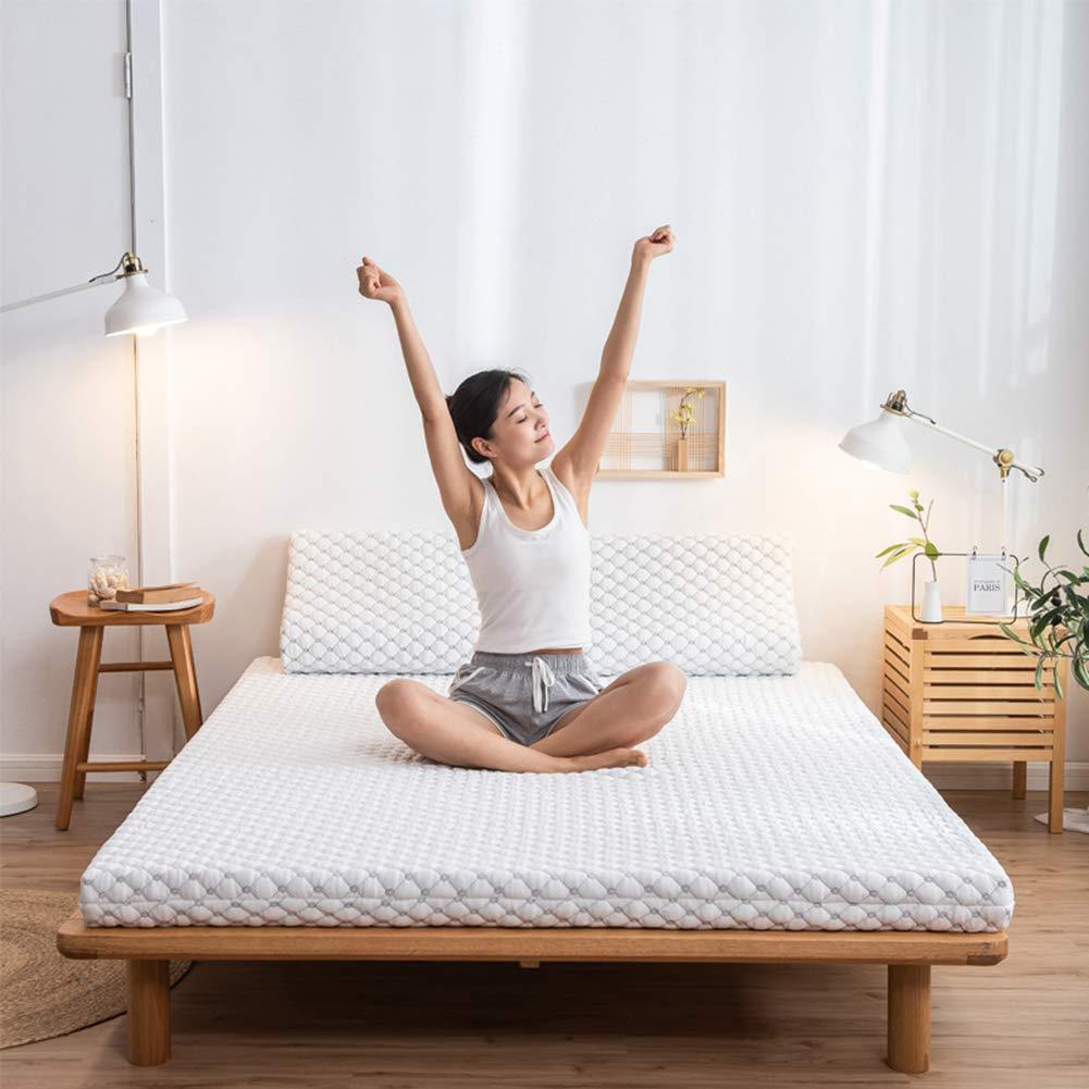 BQJ Futon matratze aus Latex,Japanischen Tatamimatte,Folding Matratzenschoner,Verdicken Bodenmatratze Topper Mat Für Home,Student Schlafsaal,Camping,180x200cm
