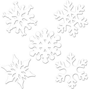 Beistle 22643 Mini Snowflake Cutouts 4