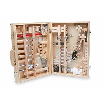 Jouetprive-Malette à outils en bois Bricolo