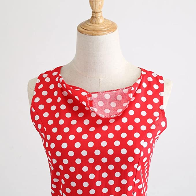Damen Kleid, MOIKA Lady Retro Hepburn Style Print Taillenkleid ...
