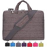 Laptop Case, Laptop Shoulder Bag, CROMI Simplicity Slim Briefcase Commuter Bag Business Sleeve Carrying Handle Bag Nylon Waterproof Notebook Shoulder Messenger Bag