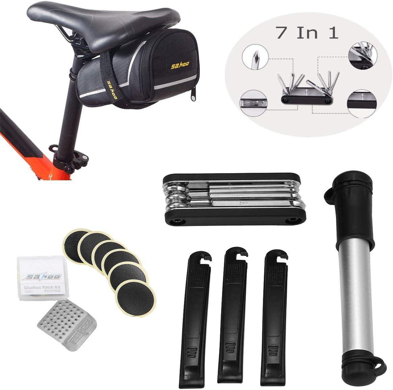 Kit de Reparación de Bicicletas, OUTERDO 7 en 1 Herramientas de ...