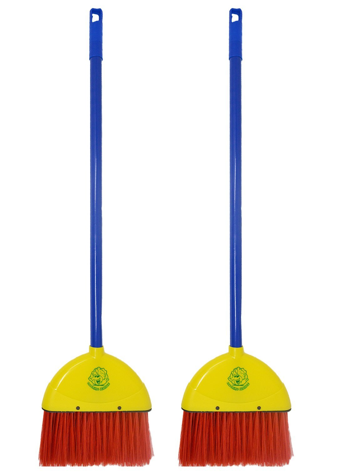 Children's Broom - 2 Pack - by Laughing Lettuce - Kid's Toy Broom Sweeps Like a Real Broom